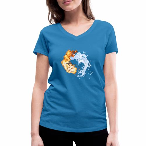 feuerwasser - Frauen Bio-T-Shirt mit V-Ausschnitt von Stanley & Stella