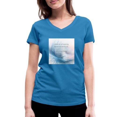 Leicht - Frauen Bio-T-Shirt mit V-Ausschnitt von Stanley & Stella