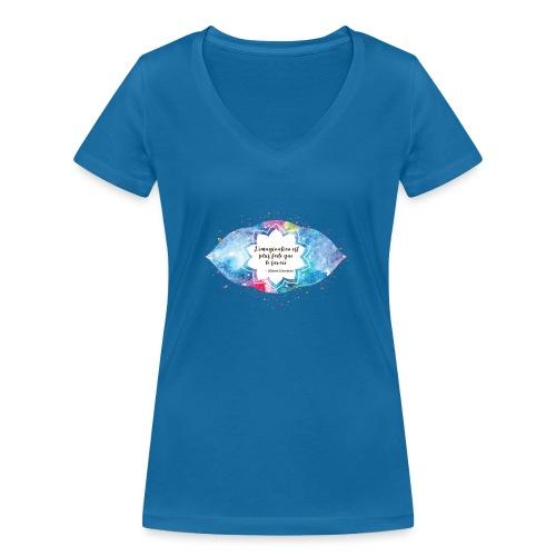 Citation d'Albert Einstein - T-shirt bio col V Stanley & Stella Femme