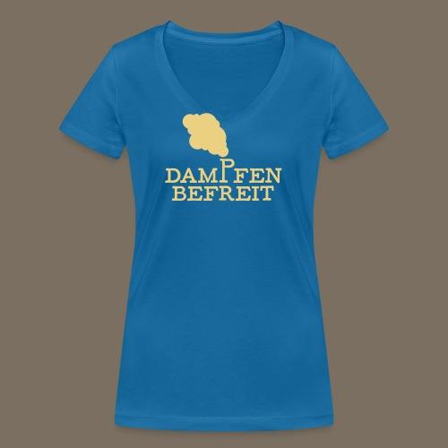 Dampfen befreit 01 - Frauen Bio-T-Shirt mit V-Ausschnitt von Stanley & Stella