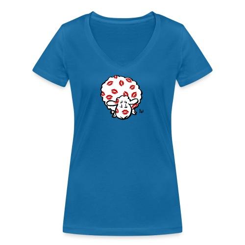 Kiss Ewe - T-shirt ecologica da donna con scollo a V di Stanley & Stella