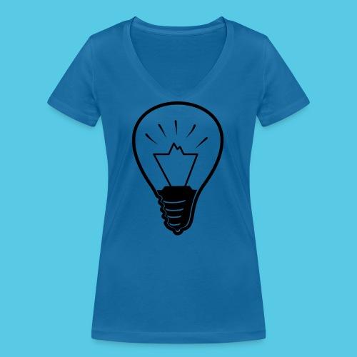 glühende Berge - Frauen Bio-T-Shirt mit V-Ausschnitt von Stanley & Stella