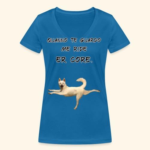 quando ti guardo - T-shirt ecologica da donna con scollo a V di Stanley & Stella