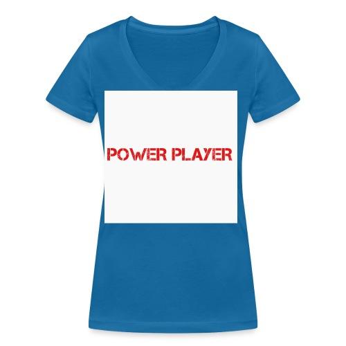 Linea power player - T-shirt ecologica da donna con scollo a V di Stanley & Stella