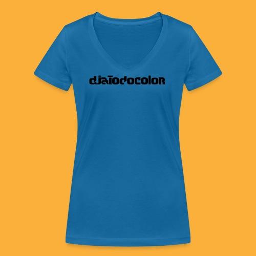 DJATODOCOLOR LOGO NEGRO - Camiseta ecológica mujer con cuello de pico de Stanley & Stella