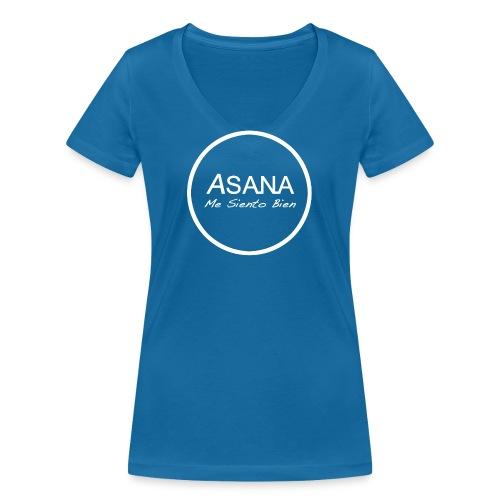 Centro ASANA . Me Siento Bien! - Camiseta ecológica mujer con cuello de pico de Stanley & Stella