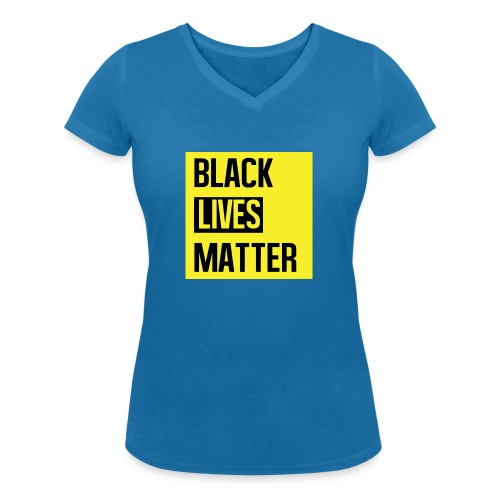 Black Lives Matter (yellow) - Vrouwen bio T-shirt met V-hals van Stanley & Stella