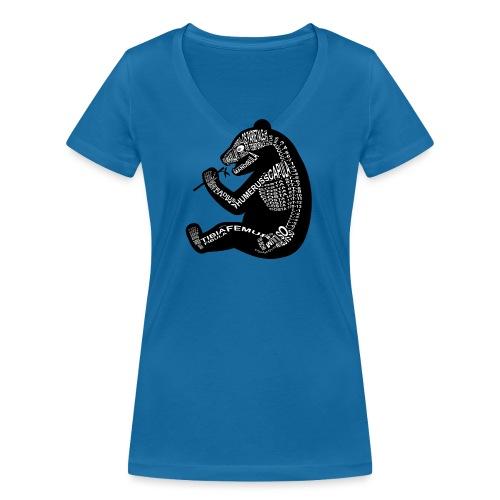 Panda skelet - Vrouwen bio T-shirt met V-hals van Stanley & Stella