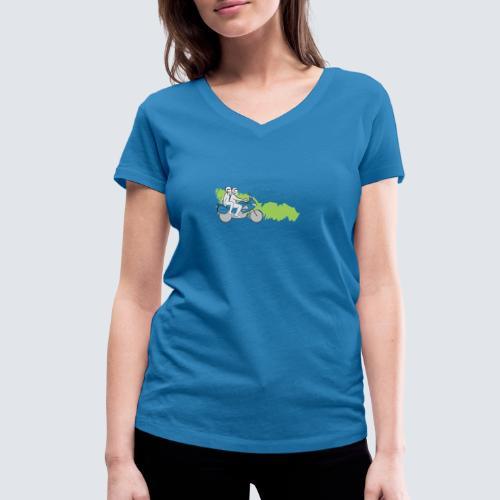 HDC logo - Vrouwen bio T-shirt met V-hals van Stanley & Stella