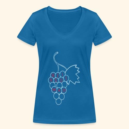 Rote Traube - Frauen Bio-T-Shirt mit V-Ausschnitt von Stanley & Stella