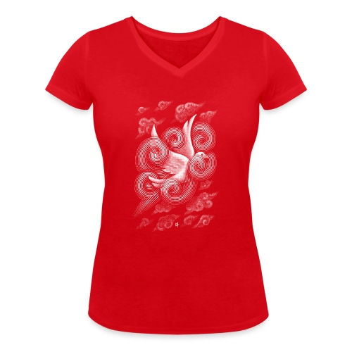 Crossing Clouds - Women's Organic V-Neck T-Shirt by Stanley & Stella
