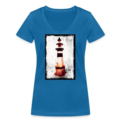 Leuchtturm - Frauen Bio-T-Shirt mit V-Ausschnitt von Stanley & Stella