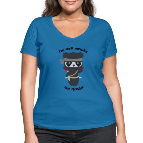 Non sono un Panda - T-shirt ecologica da donna con scollo a V di Stanley & Stella