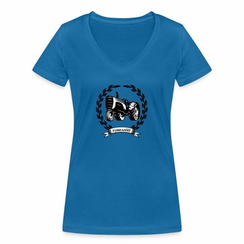 KonradSB - Ekologiczna koszulka damska z dekoltem w serek Stanley & Stella