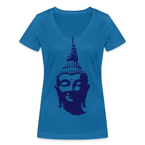 Boeddha hoofd - Vrouwen bio T-shirt met V-hals van Stanley & Stella