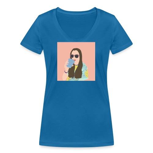 Gaia - T-shirt ecologica da donna con scollo a V di Stanley & Stella