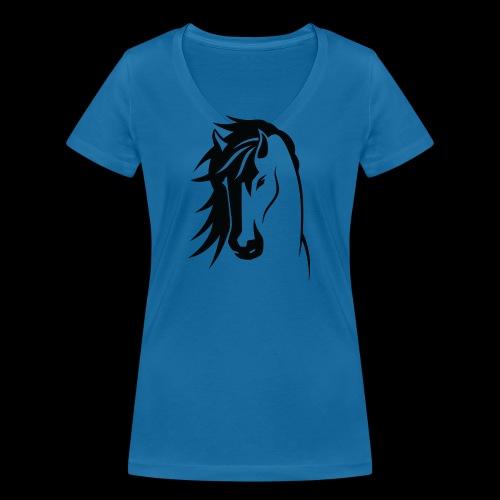 Stallion - Women's Organic V-Neck T-Shirt by Stanley & Stella