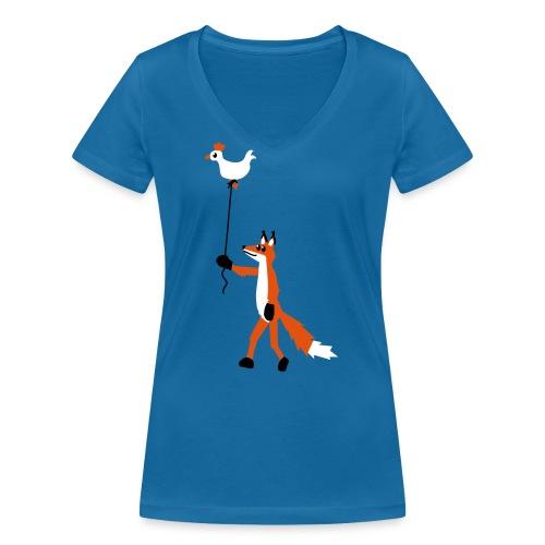 Fuchs und Henne - Frauen Bio-T-Shirt mit V-Ausschnitt von Stanley & Stella
