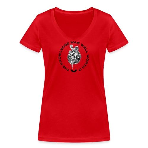 Knowledge WhiteSkull - Stanley & Stellan naisten v-aukkoinen luomu-T-paita