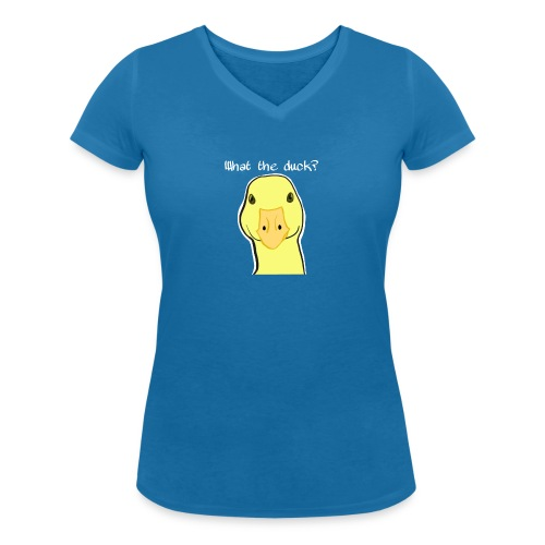 Duck you - Stanley & Stellan naisten v-aukkoinen luomu-T-paita