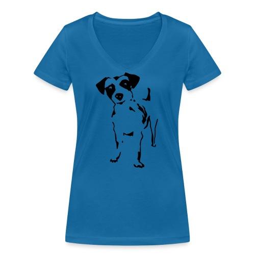 Jack Russell Terrier - Frauen Bio-T-Shirt mit V-Ausschnitt von Stanley & Stella