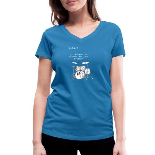 drummer1 - Vrouwen bio T-shirt met V-hals van Stanley & Stella