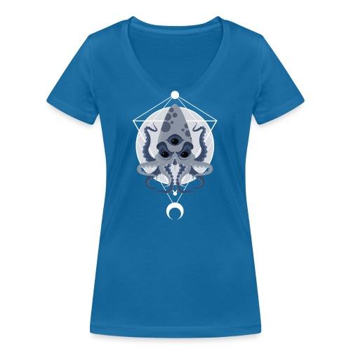 Cthulhu third eye - T-shirt ecologica da donna con scollo a V di Stanley & Stella