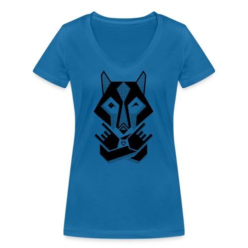 WOLFS FACE WOMAN - Frauen Bio-T-Shirt mit V-Ausschnitt von Stanley & Stella