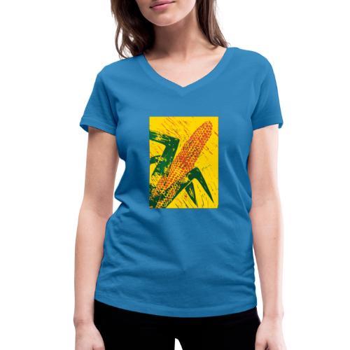 Mais rot - Frauen Bio-T-Shirt mit V-Ausschnitt von Stanley & Stella