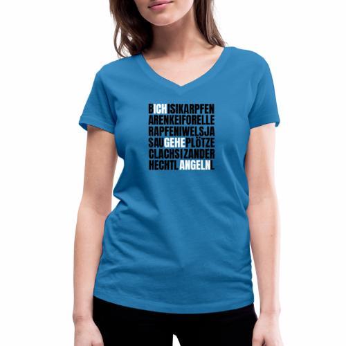 Ich gehe Angeln Angel Fish Fisch Fishing Fishyworm - Frauen Bio-T-Shirt mit V-Ausschnitt von Stanley & Stella