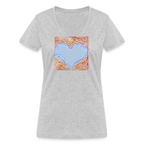 Hart - T-shirt ecologica da donna con scollo a V di Stanley & Stella