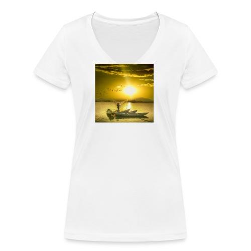 Tramonto - T-shirt ecologica da donna con scollo a V di Stanley & Stella