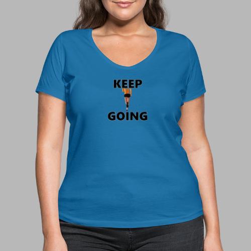 Keep going - Frauen Bio-T-Shirt mit V-Ausschnitt von Stanley & Stella