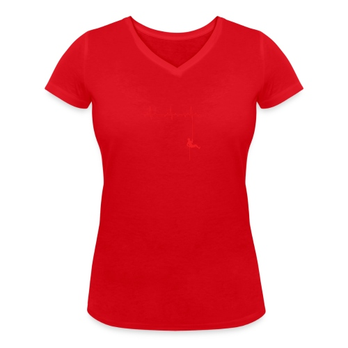 Love Rappelling ECG - Women's Organic V-Neck T-Shirt by Stanley & Stella