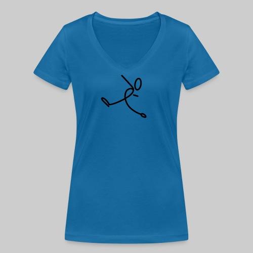 Strichmännchen - Frauen Bio-T-Shirt mit V-Ausschnitt von Stanley & Stella