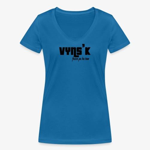 VYNS'K Fanm pa ka taw 2 - T-shirt bio col V Stanley & Stella Femme