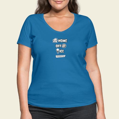 Home Off Ice - Frauen Bio-T-Shirt mit V-Ausschnitt von Stanley & Stella