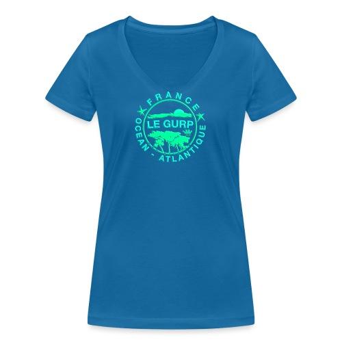 2018gurpiepngpimpgreen - Frauen Bio-T-Shirt mit V-Ausschnitt von Stanley & Stella
