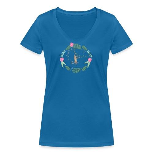 Mikey monkey - T-shirt ecologica da donna con scollo a V di Stanley & Stella