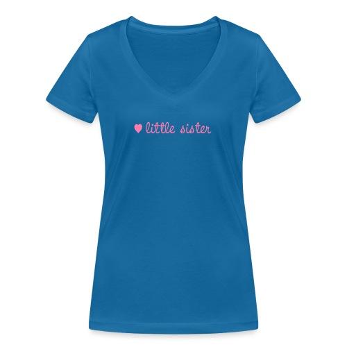 little sister, kleine Schwester - Frauen Bio-T-Shirt mit V-Ausschnitt von Stanley & Stella