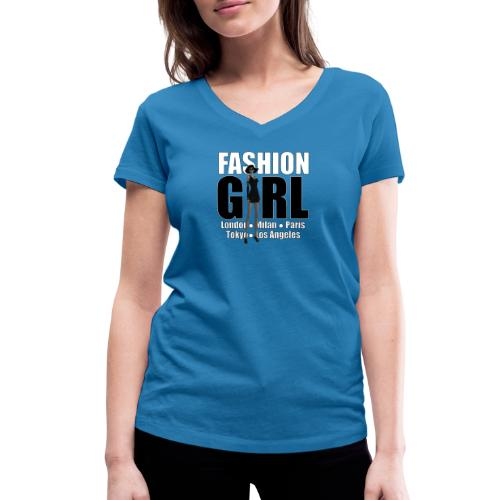 The Fashionable Woman - Fashion Girl - Women's Organic V-Neck T-Shirt by Stanley & Stella