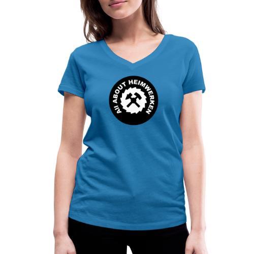 ALL ABOUT HEIMWERKEN - LOGO - Frauen Bio-T-Shirt mit V-Ausschnitt von Stanley & Stella