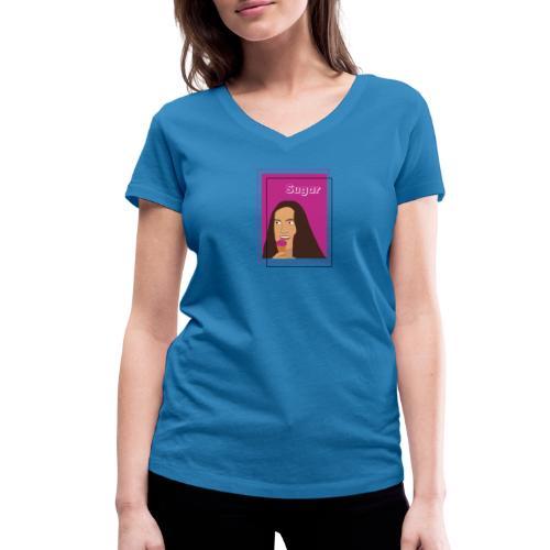 SUGAR - Camiseta ecológica mujer con cuello de pico de Stanley & Stella