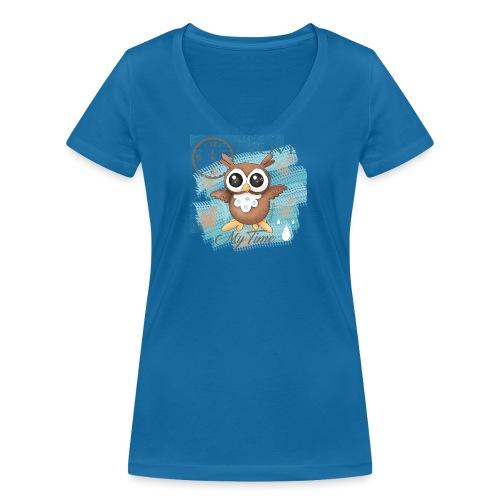 GUFO-E-TEMPO - T-shirt ecologica da donna con scollo a V di Stanley & Stella