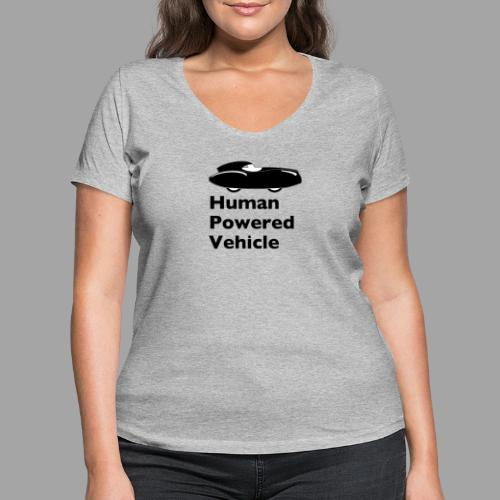 Quattrovelo Human Powered Vehicle black - Stanley & Stellan naisten v-aukkoinen luomu-T-paita