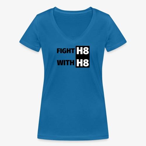 FIGHTH8 dark - Women's Organic V-Neck T-Shirt by Stanley & Stella