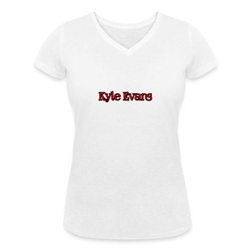 KYLE EVANS TEXT T-SHIRT - Women's Organic V-Neck T-Shirt by Stanley & Stella