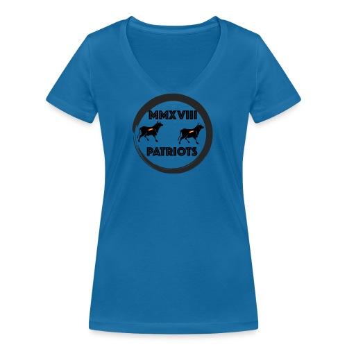 Patriots mmxviii - Camiseta ecológica mujer con cuello de pico de Stanley & Stella