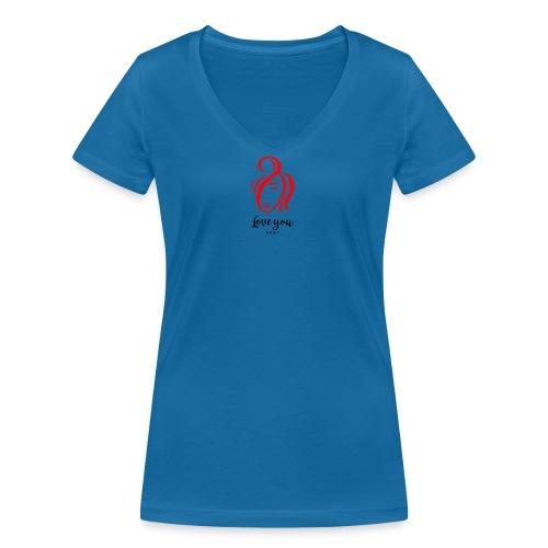 Love you 4 - Frauen Bio-T-Shirt mit V-Ausschnitt von Stanley & Stella