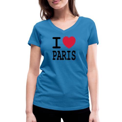 I love Paris - Vrouwen bio T-shirt met V-hals van Stanley & Stella